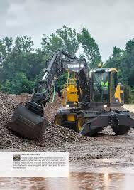 volvo heavy fisa tehnica excavator pe roti ew160e volvo excavatoare volvo