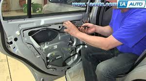 hyundai accent door panel how to install replace rear power window regulator 2001 06 hyundai
