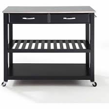 crosley furniture kitchen cart crosley furniture stainless steel top kitchen cart with optional