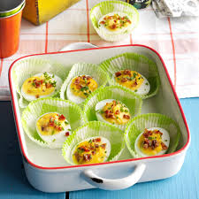 bourbon candied bacon deviled eggs recipe taste of home