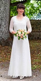 wedding sts knitted festive wedding dress white wool