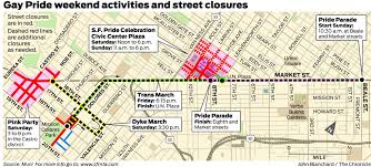 San Francisco Streetcar Map Get Ready For Weekend Traffic Hassles Sfgate