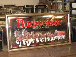Budweiser Clydesdale Barn Large Budweiser Mirror Large Budweiser King Of Beers Mirror