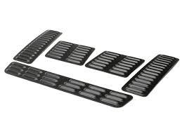 jeep hood vents hood louver set 5pc black genright jeep parts
