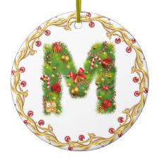 initial m ornaments keepsake ornaments zazzle