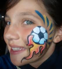 fab faces face painting painted pitbull and fun faces face