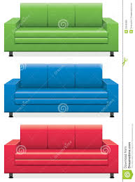 Colorful Sofas Sofa Sofa Couch Vector