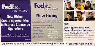 fedex trade networks hiring event 9 25 job u0026 career news from