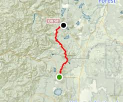 map of hwy 58 oregon pct or section d highway 138 to highway 58 willamette pass