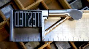 letterpress printing tested learns the craft of letterpress printing