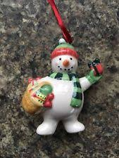 Ceramic Christmas Tree Decorations - porcelain snowman christmas tree ornaments ebay