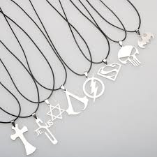 star statement necklace images Cheap 1pc stainless steel cross star pendant necklace for men jpg