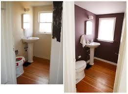 stylish powder room renovation oinkety