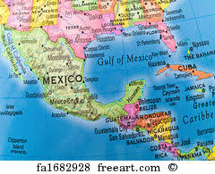 mexico america map free central america map prints and wall freeart