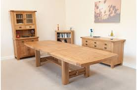 Oak Dining Room Large Extending Oak Dining Table Living Room Decoration
