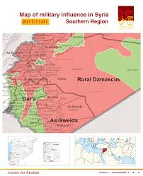 Damascus Syria Map Map Of Military Influence In Syria 01 11 2017