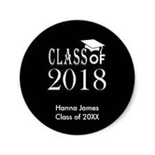 graduation cap stickers high school grad 2018 caps and diplomas classic
