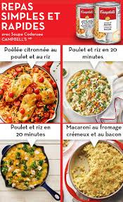 plat a cuisiner rapide épinglé par yolande larivée sur cbell s repas