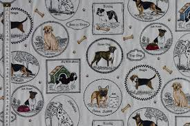 themed material themed fabric tagged dogs material