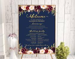 Wedding Program Board 5x7 Peach Cream Wedding Program Fan Style Template
