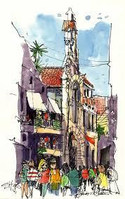exploring sitges urban sketchers