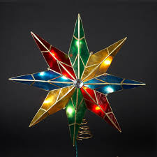 bethlehem star christmas tree topper christmas lights decoration
