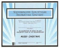 best decorated house for christmas free printable certificate