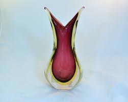 Ruby Vases Murano Glass Sommerso Vase Ruby And Amber Murano Glass Murano