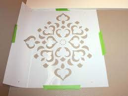 how to stencil a focal wall hgtv determine starting point