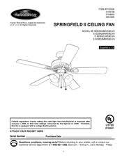 harbor breeze ceiling fan manual harbor breeze e bdb52bnk5bc4n manuals