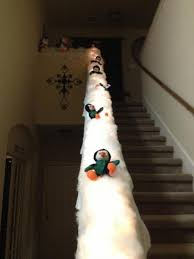 Christmas Decorations Come Down Best 25 Christmas Stairs Decorations Ideas On Pinterest