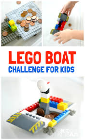 lego boat engineering challenge for kids lego boat lego and boating