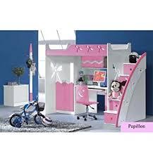 lit combiné bureau fille lit combiné bureau enfant papillon amazon fr cuisine maison