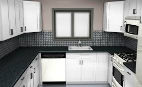 Kitchen Wall Tile Ideas Designs by Grey Granite Countertops Staimless Steel Handles White Kitchen