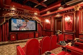 Home Theatre Design Los Angeles Modern Red Carpet For The Interior Design Can Add Luxury With