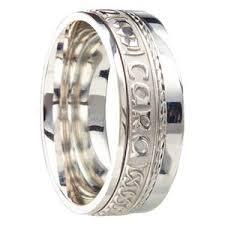 anam cara symbol white gold celtic wedding rings handmade in ireland