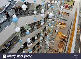 john lewis store interior christmas decorations and escalators
