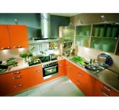 Orange Kitchen Cabinets Colored Kitchen Cabinets Uv Lacquer Petg China Kitchen Cabinet