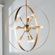 Hoop Chandelier Classic Sputnik Hoop Chandelier Shades Of Light