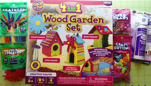 wood garden set craft kit for kids summer fun from