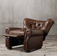 Leather Reclining Chairs Leather Recliner With Nailheads