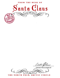 santa claus stationary free printable