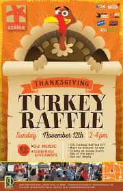 thanksgiving turkey raffle azalea
