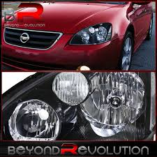 nissan altima 2005 headlight assembly crystal black housing jdm headlights for 2002 2003 2004 nissan