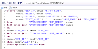 sql query join tutorial complete sap hana sql script tutorial 9 9 sql join sql union
