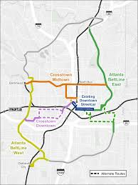Atlanta Marta Train Map by Transit Atlanta Beltline