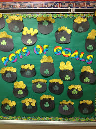 march pots of goals bulletin board ideas for pinterest