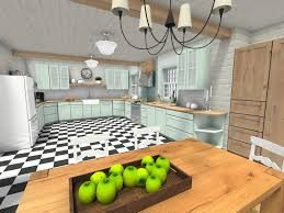 white kitchen cabinets with green countertops roomsketcher cool mint green kitchen