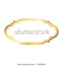 Decorative Frame Png Gold Frame Beautiful Simple Golden Design Stock Vector 478160617