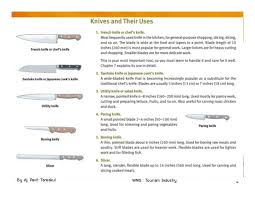 kitchen knives and their uses chapter 3 kitchen tools and equipments
